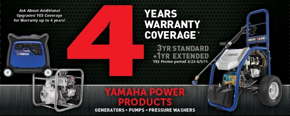 Yamaha power products y e s extended warranty for Yamaha yes warranty